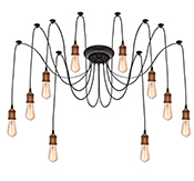 Edison Chandelier Gold 10