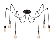 Edison Chandelier Black 6