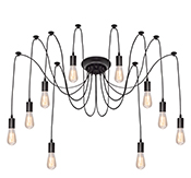 Edison Chandelier Black 10