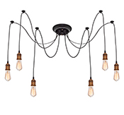 Edison Chandelier Gold 6